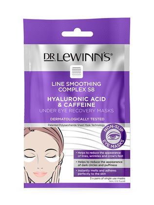 Line Smoothing Complex Hyaluronic Acid & Caffeine Under Eye Recovery Masks 3 pack